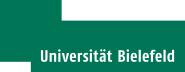 grünes Logo der Universität Bielefeld